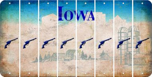 Iowa PISTOL Cut License Plate Strips (Set of 8) LPS-IA1-053