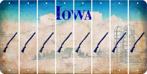 Iowa SHOTGUN Cut License Plate Strips (Set of 8) LPS-IA1-054