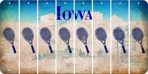 Iowa TENNIS Cut License Plate Strips (Set of 8) LPS-IA1-064