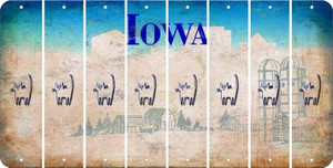 Iowa CAT Cut License Plate Strips (Set of 8) LPS-IA1-072