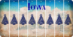 Iowa CHRISTMAS TREE Cut License Plate Strips (Set of 8) LPS-IA1-077