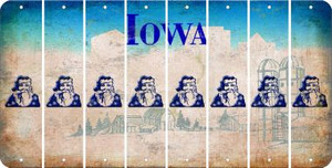 Iowa SANTA Cut License Plate Strips (Set of 8) LPS-IA1-078