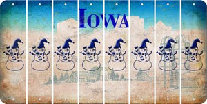 Iowa SNOWMAN Cut License Plate Strips (Set of 8) LPS-IA1-079