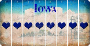 Iowa HEART Cut License Plate Strips (Set of 8) LPS-IA1-081