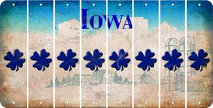 Iowa SHAMROCK Cut License Plate Strips (Set of 8) LPS-IA1-082