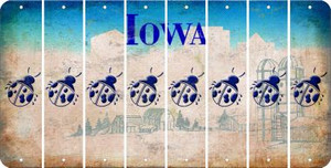 Iowa LADYBUG Cut License Plate Strips (Set of 8) LPS-IA1-087