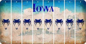 Iowa SNAKE Cut License Plate Strips (Set of 8) LPS-IA1-088