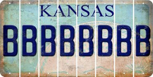 Kansas B Cut License Plate Strips (Set of 8) LPS-KS1-002