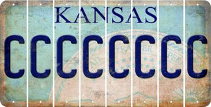 Kansas C Cut License Plate Strips (Set of 8) LPS-KS1-003