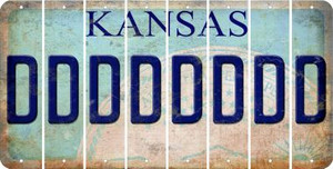 Kansas D Cut License Plate Strips (Set of 8) LPS-KS1-004