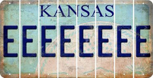 Kansas E Cut License Plate Strips (Set of 8) LPS-KS1-005