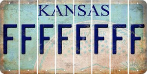 Kansas F Cut License Plate Strips (Set of 8) LPS-KS1-006