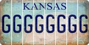 Kansas G Cut License Plate Strips (Set of 8) LPS-KS1-007