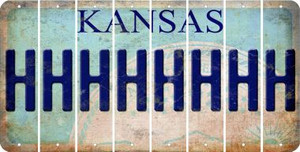 Kansas H Cut License Plate Strips (Set of 8) LPS-KS1-008