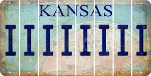 Kansas I Cut License Plate Strips (Set of 8) LPS-KS1-009