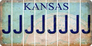 Kansas J Cut License Plate Strips (Set of 8) LPS-KS1-010