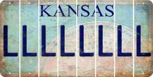 Kansas L Cut License Plate Strips (Set of 8) LPS-KS1-012