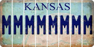 Kansas M Cut License Plate Strips (Set of 8) LPS-KS1-013