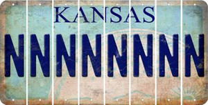 Kansas N Cut License Plate Strips (Set of 8) LPS-KS1-014