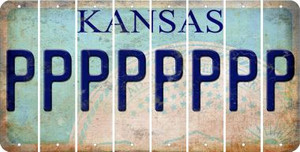 Kansas P Cut License Plate Strips (Set of 8) LPS-KS1-016