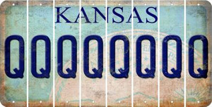 Kansas Q Cut License Plate Strips (Set of 8) LPS-KS1-017