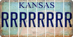 Kansas R Cut License Plate Strips (Set of 8) LPS-KS1-018