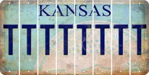 Kansas T Cut License Plate Strips (Set of 8) LPS-KS1-020