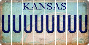Kansas U Cut License Plate Strips (Set of 8) LPS-KS1-021