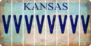 Kansas V Cut License Plate Strips (Set of 8) LPS-KS1-022