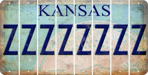 Kansas Z Cut License Plate Strips (Set of 8) LPS-KS1-026