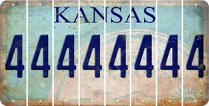 Kansas 4 Cut License Plate Strips (Set of 8) LPS-KS1-031