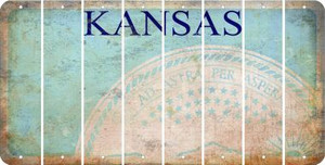 Kansas BLANK Cut License Plate Strips (Set of 8) LPS-KS1-037