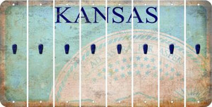 Kansas APOSTROPHE Cut License Plate Strips (Set of 8) LPS-KS1-038