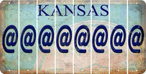 Kansas ASPERAND Cut License Plate Strips (Set of 8) LPS-KS1-039