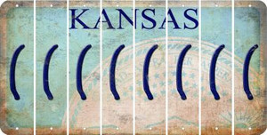 Kansas LEFT PARENTHESIS Cut License Plate Strips (Set of 8) LPS-KS1-045