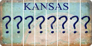 Kansas QUESTION MARK Cut License Plate Strips (Set of 8) LPS-KS1-047