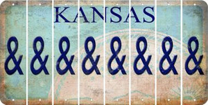 Kansas AMPERSAND Cut License Plate Strips (Set of 8) LPS-KS1-049