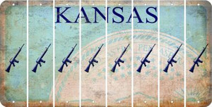 Kansas M16 RIFLE Cut License Plate Strips (Set of 8) LPS-KS1-052