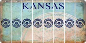 Kansas 2ND AMENDMENT Cut License Plate Strips (Set of 8) LPS-KS1-056