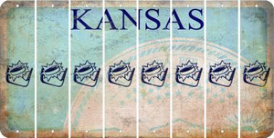 Kansas HOCKEY Cut License Plate Strips (Set of 8) LPS-KS1-062