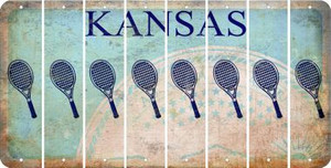 Kansas TENNIS Cut License Plate Strips (Set of 8) LPS-KS1-064