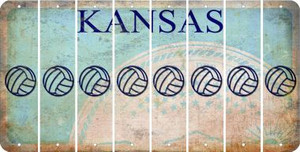 Kansas VOLLEYBALL Cut License Plate Strips (Set of 8) LPS-KS1-065