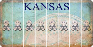 Kansas BABY BOY Cut License Plate Strips (Set of 8) LPS-KS1-066