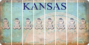 Kansas BABY GIRL Cut License Plate Strips (Set of 8) LPS-KS1-067