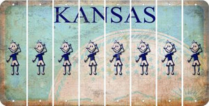 Kansas TEEN BOY Cut License Plate Strips (Set of 8) LPS-KS1-068