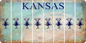 Kansas TEEN GIRL Cut License Plate Strips (Set of 8) LPS-KS1-069