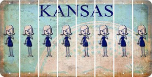 Kansas MOM Cut License Plate Strips (Set of 8) LPS-KS1-070