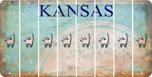 Kansas CAT Cut License Plate Strips (Set of 8) LPS-KS1-072