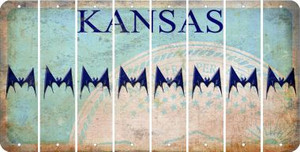 Kansas BAT Cut License Plate Strips (Set of 8) LPS-KS1-074