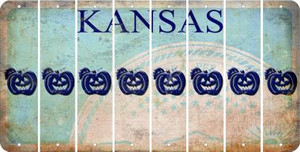 Kansas PUMPKIN Cut License Plate Strips (Set of 8) LPS-KS1-075